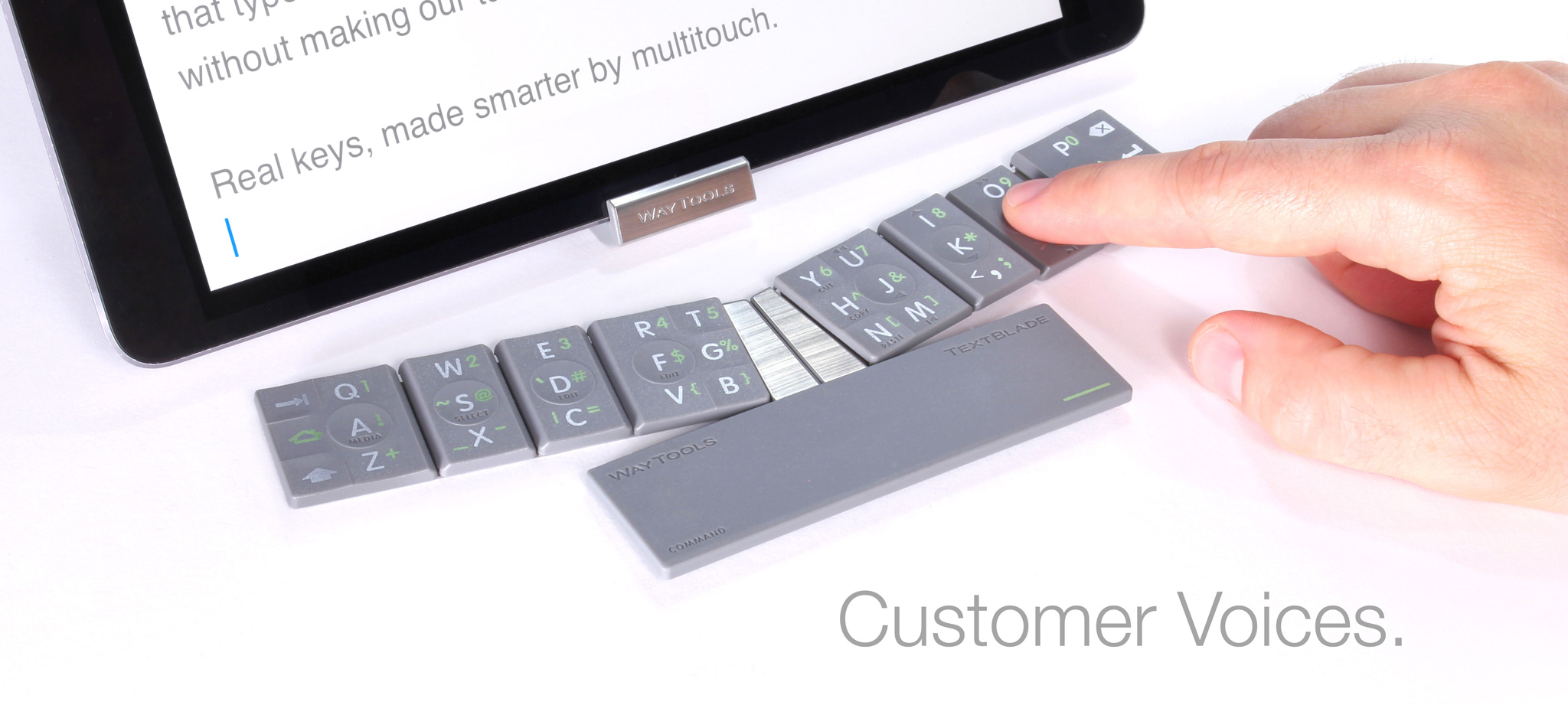 508887676f6 WayTools TextBlade - Magnetic Keyboard for iPhone, iPad, Android